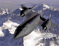 SR-71 Over The Sierras