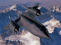 SR 71 OVER SNOW CAPPED MOUNTAINS (2)