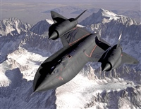 SR 71 OVER SNOW CAPPED MOUNTAINS