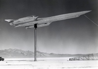 To test its radar cross section, a full-size model of the A-12 was placed in various lefts on a pylon as radar readings were taken